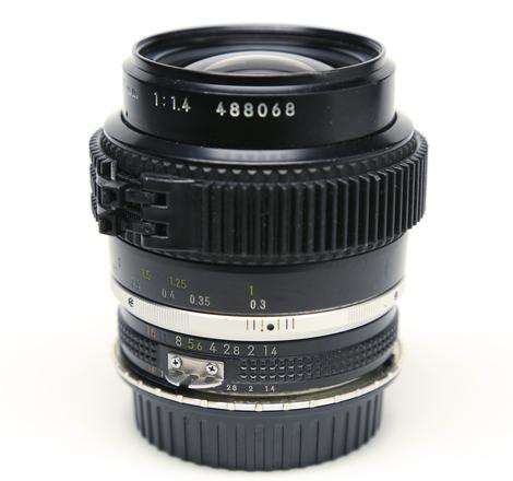 Nikon 35mm f/1.4 AI-S Declicked & ZipGeared w/ EF adaptor
