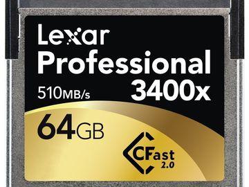 Rent: Lexar 64GB CFast 2.0 Card