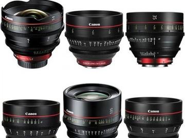 Canon CN-E Cinema Prime 6 Lens Set