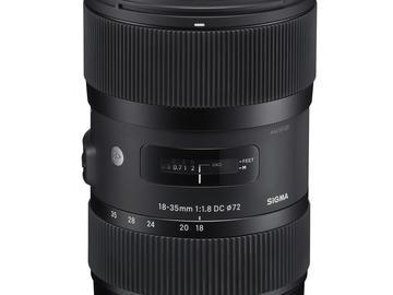 Rent: Sigma 18-35mm f/1.8 DC HSM Art EF