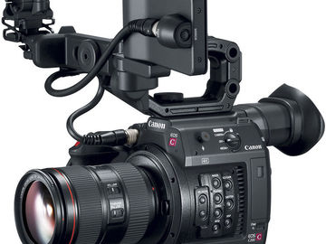 "Rent: Canon C200 with 24-105mm IS II USM lens, Tripod, 17"" monitor"