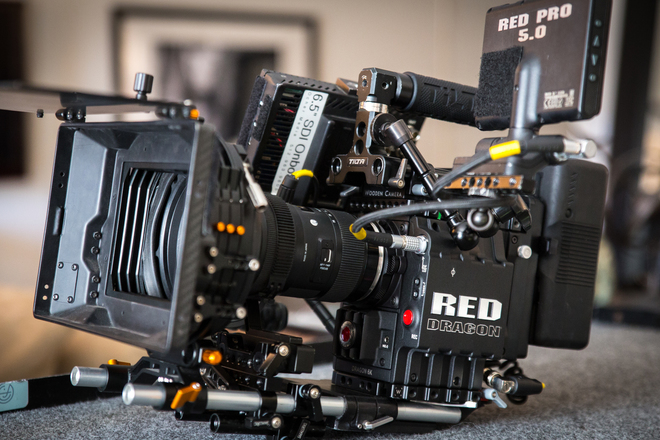 Red Epic-M Dragon Cinema package with lenses