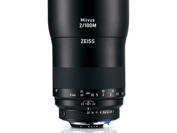 Rent: Zeiss Milvus Makro-Planar 100mm f/2
