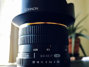 Rent: Rokinon 14mm f/2.8 IF ED UMC Lens For Canon EF
