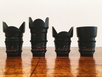 Rent: Rokinon Cine DS Lens Kit (EF Mount)