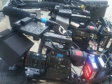 Rent: (x2) Canon EOS C300 Cinema Camera package with 2 cameras