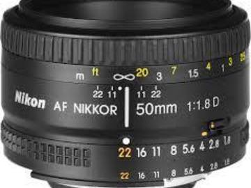 Rent: Nikon 50mm f/1.8 Prime Lens with Canon EF Adapter