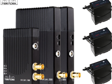 Rent: Teradek Bolt 500 3G-SDI Video w/ 2 receivers and 3 Batts