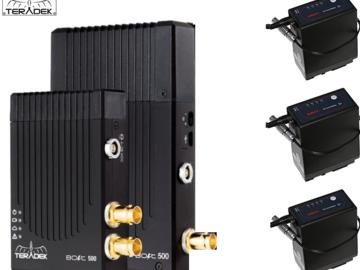 Rent: Teradek Bolt 500 3G-SDI Video w/ 1 receivers and 3 Batts