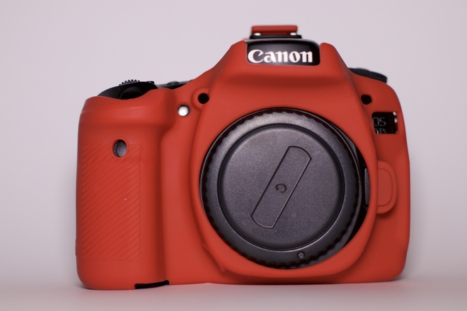 Canon EOS 80D with Silicon Protective Case