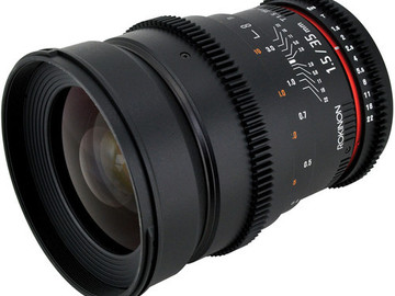 Rent: Rokinon Cine 35mm T1.5 EF Mount