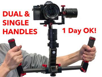 Rent: Came TV Single 3-Axis Gimbal w/ Dual & Single Handles (B)