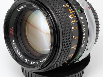 Rent: Vintage Canon FD 50mm f1.4 SSC Lens w/ MFT adptr, focus gear