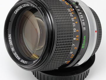 Rent: Vintage Canon FD 85mm f/1.8 with MFT adapter