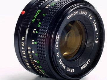 Rent: Canon FD 50mm f/1.8 chrome nose  w/ MFT adapter & focus gear