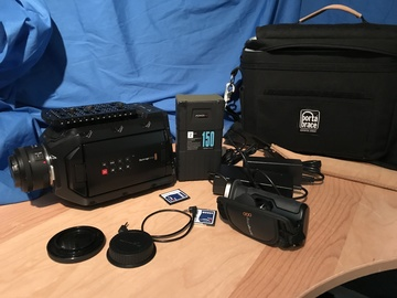 Rent: Blackmagic URSA Mini 4.6K Run-and-gun package