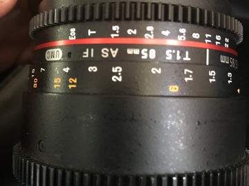 Rent: Rokinon Cine 85mm T1.5/UV protector