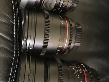Rent: Rokinon Cine Lens Set 85mm/35mm/Fisheye