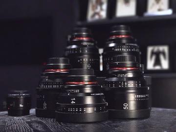 Rent: CUSTOM Rokinon Xeen Cinema EF Series Lens Set - 14, 24,85
