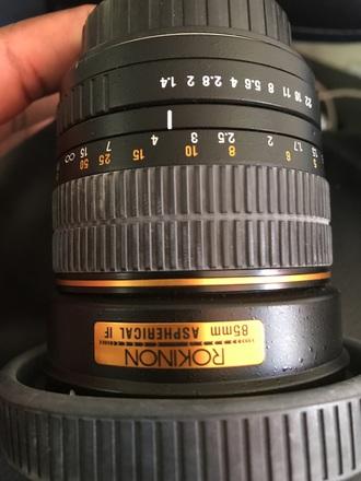 Rokinon 85mm f/1.4 x Hoya NDX4 Filter