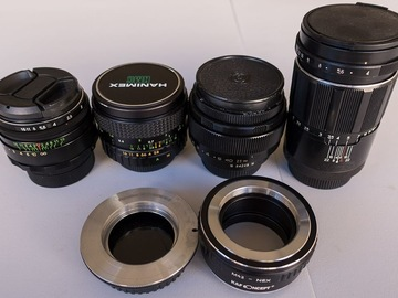 Rent: Vintage M42 lenses with an EOS and E-mount adapter