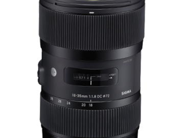 Rent: Sigma 18-35mm 1.8 Zoom Lens
