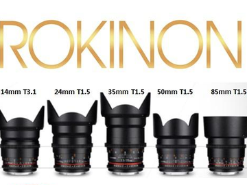 Rent: 5 lens set 14,24,35,50,85