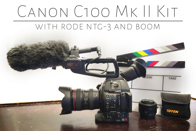 Canon C100 Mk II mkii (w/lenses) and Rode NTG-3 Mic Kit