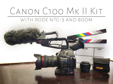 Rent: Canon C100 Mk II (w/lenses) and Rode NTG-2 Boom Mic Kit