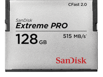 Rent: San Disk 128GB CFast 2.0 Memory Card