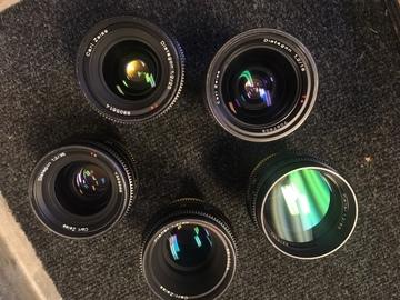 Rent: Zeiss Super Speeds Mark III Lens Set (18,25,35,50,85)