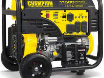 Rent: Champion - 9200 Watt Generator, Multiple Outputs