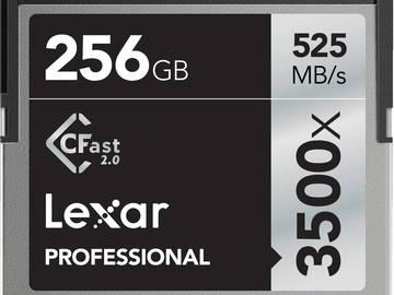 Rent: Lexar 256GB Cfast 2.0 Card - 3500x