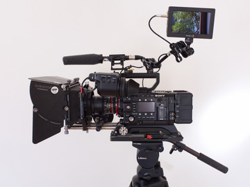 Rent: Sony PMW-F5 4K License, Rokinon Primes, Tripod and more