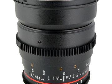 Rent: Rokinon 24mm T1.5 Full Frame Cine Lens for Canon