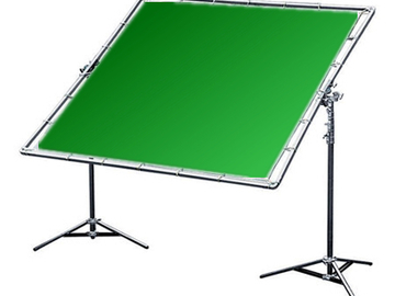 Rent: 8x8 Green/Blue Digital w/Stands and Frame