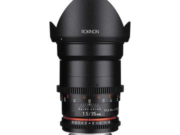 Rent: Rokinon Cine DS 35mm T1.5 Canon EF