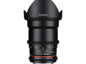 Rent: Rokinon Cine DS 35mm T1.5 Canon EF