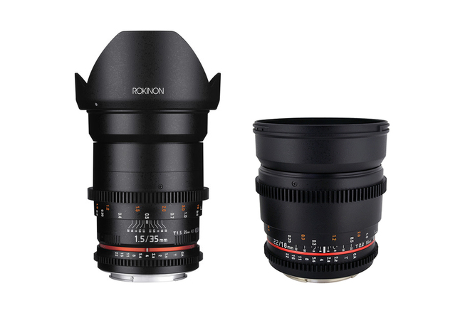 Rokinon Cine DS Lens Set 16mm + 35mm Canon EF
