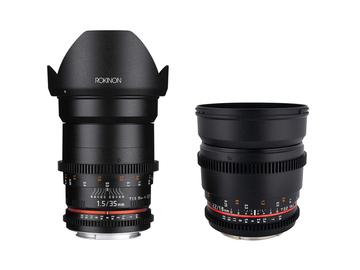 Rent: Rokinon Cine DS Lens Set 16mm + 35mm Canon EF