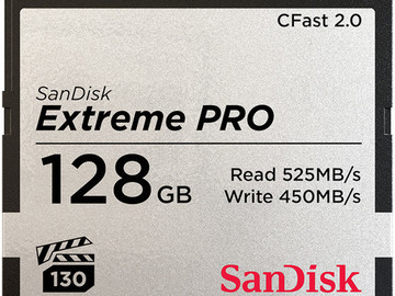 Sandisk CFast2.0 128gb card