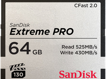 Rent: Sandisk CFast2.0 64gb card