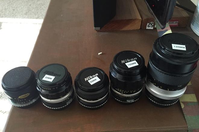 Nikon Nikkor Lens Kit 35 - 50 - 105 - 135