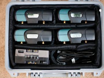 Rent: 4x AntonBauer Digital 90 Gold Mount Batteries & Dual Charger