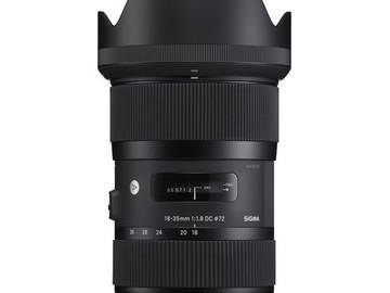 Rent: Sigma 18-35mm f/1.8 DC HSM Art - EF Mount