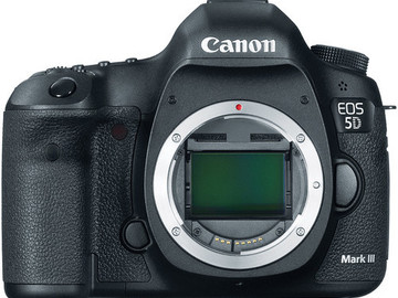 Rent: Canon EOS 5D Mark III body, batteries media, etc.