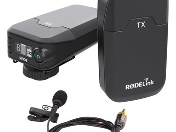 RodeLink Rode Wireless Tx Rx with lavaliere Microphone
