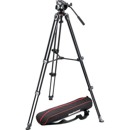Manfrotto 502AM Pro Video Head and Tripod