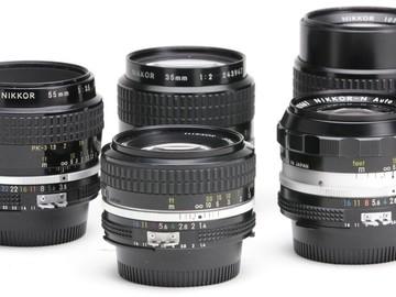 Rent: Vintage Nikon Nikkor Prime Set w/ Zoom