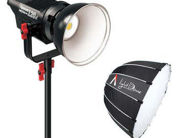 Rent: Aputure LightStorm COB 120D + Light Dome + C-Stand Package